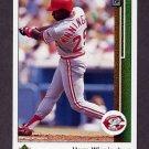1989 Upper Deck Baseball #636A Herm Winningham - Cincinnati Reds Error Card