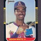 1987 Donruss Baseball #038 Devon White RC - California Angels