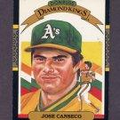 1987 Donruss Baseball #006 Jose Canseco DK - Oakland A's
