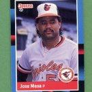 1988 Donruss Baseball #601 Jose Mesa RC - Baltimore Orioles