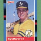 1988 Donruss Baseball #256 Mark McGwire - Oakland A's