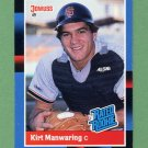 1988 Donruss Baseball #039 Kirt Manwaring RC - San Francisco Giants