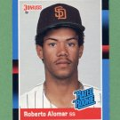 1988 Donruss Baseball #034 Roberto Alomar RC - San Diego Padres Ex-ExMt