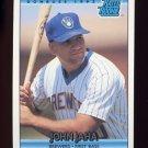 1992 Donruss Baseball #398 John Jaha RC - Milwaukee Brewers