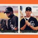 1993 Topps Gold Baseball #661 Garvin Alston RC / Michael Case - Colorado Rockies