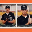 1993 Topps Gold Baseball #579 Neil Garrett / Jason Bates RC - Colorado Rockies