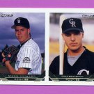 1993 Topps Gold Baseball #476 Mark Voisard / Will Scalzitti RC - Colorado Rockies