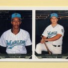 1993 Topps Gold Baseball #441 Don Lemon / Todd Pridy RC - Florida Marlins