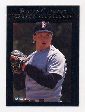 1992 Fleer Baseball Clemens #13 Roger Clemens - Boston Red Sox