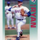 1992 Fleer Baseball #320 Nolan Ryan - Texas Rangers