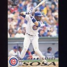 1995 Pacific Baseball #079 Sammy Sosa - Chicago Cubs