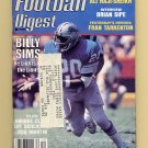 Football Digest December 1984 with Billy Sims of the Detroit Lions on the Cover
