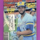 Baseball Digest June 1981 with Cecil Cooper of the Milwaukee Brewers on the Cover