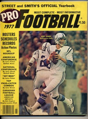 1977 Street and Smith's Pro Football Yearbook with Bert Jones of the  Baltimore Colts on the Cover
