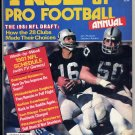 1981 True Pro Football Annual with Jim Plunkett of  the Oakland Raiders on the Cover