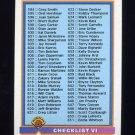 1991 Bowman Baseball #704 Checklist 594-704
