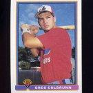 1991 Bowman Baseball #449 Greg Colbrunn RC - Montreal Expos