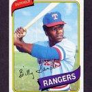 1980 Topps Baseball #458 Billy Sample - Texas Rangers