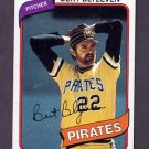 1980 Topps Baseball #457 Bert Blyleven - Pittsburgh Pirates Ex
