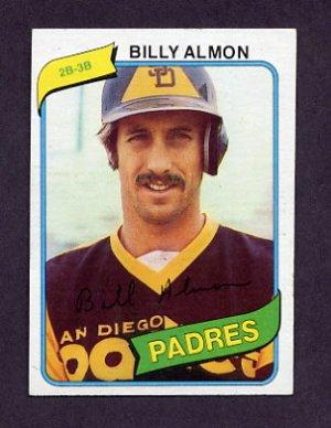 1980 Topps Baseball #436 Billy Almon - San Diego Padres