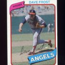 1980 Topps Baseball #423 Dave Frost - California Angels