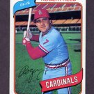 1980 Topps Baseball #418 Roger Freed - St. Louis Cardinals ExMt