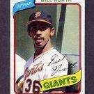 1980 Topps Baseball #408 Bill North - San Francisco Giants