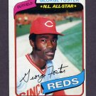 1980 Topps Baseball #400 George Foster - Cincinnati Reds G