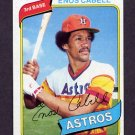 1980 Topps Baseball #385 Enos Cabell - Houston Astros