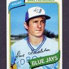 1980 Topps Baseball #382 Dave Freisleben - Toronto Blue Jays