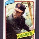 1980 Topps Baseball #335 Willie McCovey - San Francisco Giants Vg