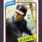 1980 Topps Baseball #335 Willie McCovey - San Francisco Giants Ex