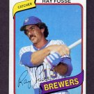 1980 Topps Baseball #327 Ray Fosse - Milwaukee Brewers ExMt