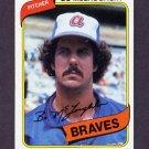 1980 Topps Baseball #326 Bo McLaughlin - Atlanta Braves