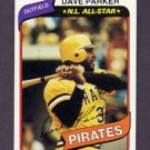 1980 Topps Baseball #310 Dave Parker - Pittsburgh Pirates Ex