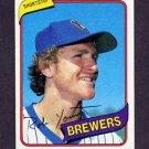 1980 Topps Baseball #265 Robin Yount - Milwaukee Brewers