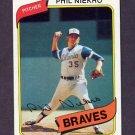 1980 Topps Baseball #245 Phil Niekro - Atlanta Braves NM-M