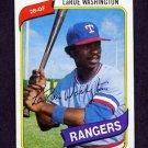 1980 Topps Baseball #233 LaRue Washington RC - Texas Rangers ExMt