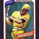 1980 Topps Baseball #165 Omar Moreno - Pittsburgh Pirates Ex