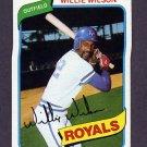 1980 Topps Baseball #157 Willie Wilson - Kansas City Royals NM-M