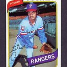 1980 Topps Baseball #144 Steve Comer - Texas Rangers ExMt