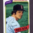 1980 Topps Baseball #128 Tom Burgmeier - Boston Red Sox
