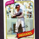 1980 Topps Baseball #122 Dave Rosello - Cleveland Indians