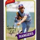 1980 Topps Baseball #115 Sparky Lyle - Texas Rangers Ex