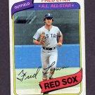 1980 Topps Baseball #110 Fred Lynn - Boston Red Sox Vg