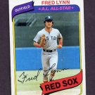 1980 Topps Baseball #110 Fred Lynn - Boston Red Sox NM-M