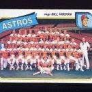 1980 Topps Baseball #082 Houston Astros Team Checklist / Bill Virdon
