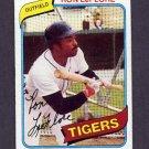 1980 Topps Baseball #080 Ron LeFlore - Detroit Tigers Vg