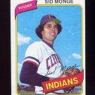 1980 Topps Baseball #074 Sid Monge - Cleveland Indians