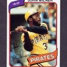 1980 Topps Baseball #071 John Milner - Pittsburgh Pirates NM-M